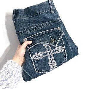 South Pole Pocket Cross Design Jeans 32